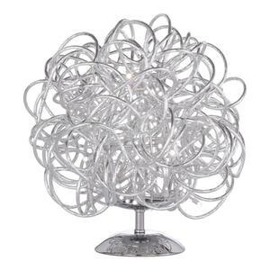 Wofi Led-tischleuchte , 8366.01.70.7000 , Silberfarben , Metall , 32 cm , mit Schalter , 003131032802