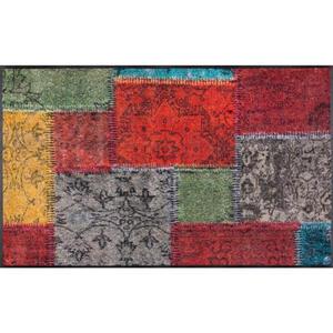 Esposa Fußmatte 40/60 cm graphik multicolor , Vintage Patches , Textil , 40x60 cm , rutschfest, für Fußbodenheizung geeignet , 004336009651