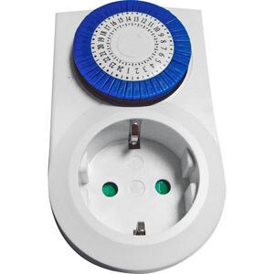 Homeware Zeitschaltuhr weiß , Tg-7 , Metall, Kunststoff , 6.2x6.9x10.1 cm , matt , 005035000401