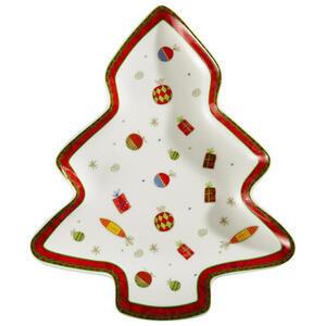 X-Mas Servierplatte , Christmas Dream , Multicolor , Keramik , Weihnachten , 22.86 cm , glänzend , hitzebeständig , 0071360141