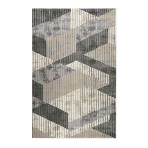 Esprit Webteppich 133/200 cm grau, sandfarben, beige , Tamo Esp-5199 , Textil , Graphik , 133x200 cm , für Fußbodenheizung geeignet, in verschiedenen Größen erhältlich, für Hausstauballergiker
