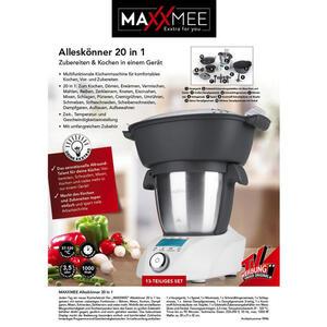 XXXLutz Maxxmee alleskönner 20 in 1 , Maxxmee Alleskönner 20 IN 1 , Grau, Weiß , Kunststoff , 21x32x38 cm , 005247014001