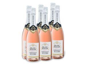 6 x 0,75-l-Flasche Weinpaket Blanc Foussy Crémant de Loire Cuvée Prestige AOP brut, Schaumwein