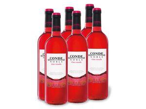 6 x 0,75-l-Flasche Conde Noble Vino rosado trocken, Roséwein