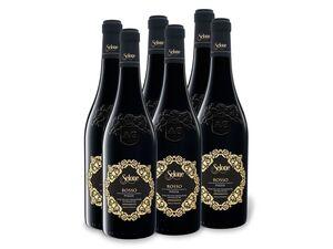 6 x 0,75-l-Flasche Selone Rosso Puglia IGP halbrocken, Rotwein