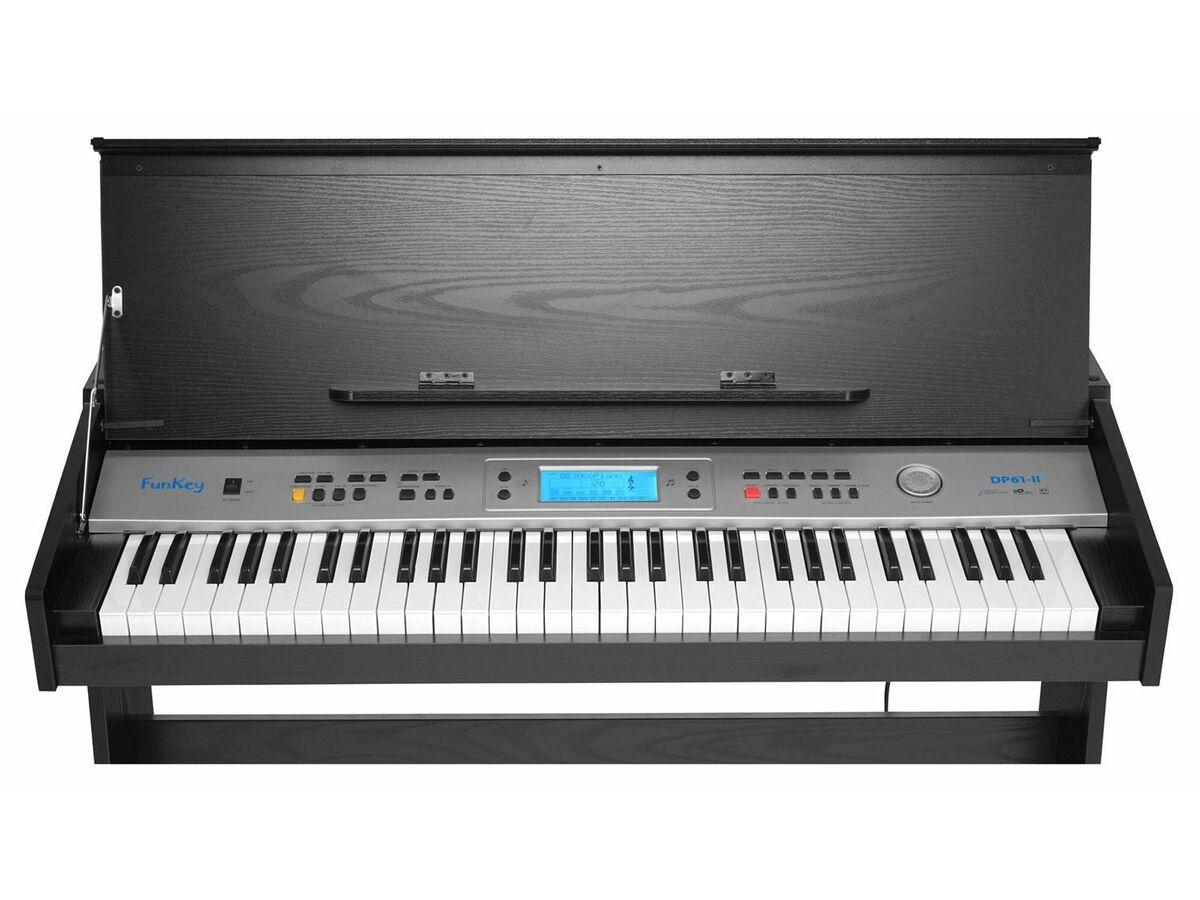 Bild 4 von FunKey DP-61 II Digitalpiano mit Ständer Schwarz