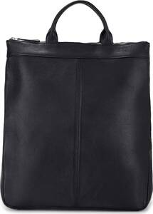 Belmondo, Leder-Rucksack in schwarz, Rucksäcke für Herren