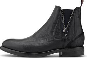 Another A, Zipper-Chelsea in schwarz, Boots für Herren