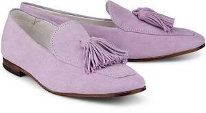 COX, Tassel-Loafer in helles lila, Slipper für Damen