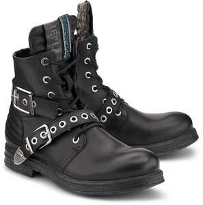 Replay, Schnür-Boots Leaf in schwarz, Boots für Damen