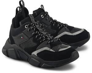 Tommy Hilfiger, Sneaker Mid Cut Chunky in schwarz, Sneaker für Damen