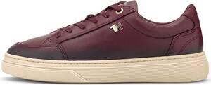 Tommy Hilfiger, Leder-Sneaker Elevated Th in bordeaux, Sneaker für Damen