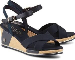 Tommy Hilfiger, Keil-Sandalette in dunkelblau, Sandalen für Damen
