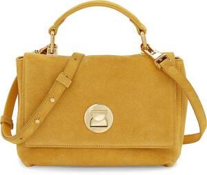 Coccinelle, Handtasche Liya Suede in gelb, Henkeltaschen für Damen