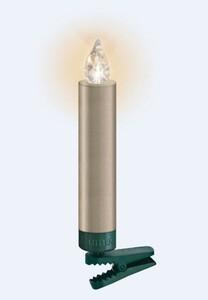 Krinner Lumix Weihnachtsbaumkerzen Premium mini   Erweiterungsset, 6 LED Kerzen, cashmere