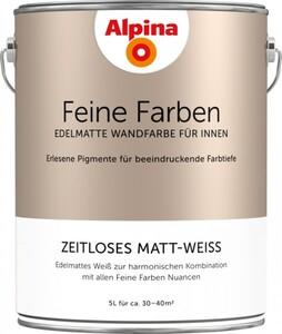Alpina Feine Farben 5 l, zeitloses matt-weiß