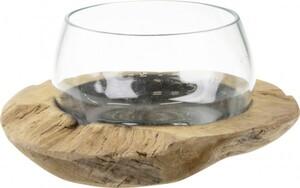 Dijk Wurzelschale mit Glas 30 x 30 x 17 cm
