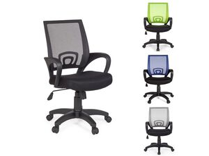 AMSTYLE Bürostuhl »RIVOLI«, 120 kg Belastbarkeit, breite Rückenlehne, atmungsaktiver Bezug