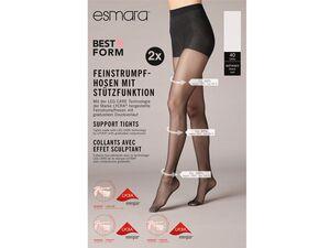 ESMARA® Feinstrumpfhose Damen, 2 Stück, mit Baumwollzwickel und Komfortbund