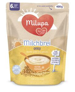 Milupa Guten Morgen Milchbrei Grieß ab dem 6.Monat 400G