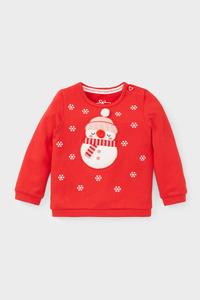 Baby-Weihnachts-Sweatshirt - Bio-Baumwolle - Glanz-Effekt