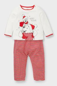 Winnie Puuh - Baby-Weihnachtspyjama - Bio-Baumwolle