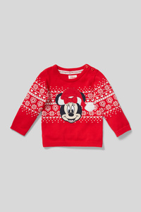 Minnie Maus - Baby-Weihnachtspullover