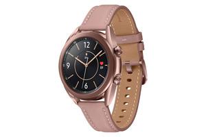 SAMSUNG  Galaxy Watch 3 41 mm Bluetooth Smartwatch Edelstahl, Echtleder, Größe S/M (130-190 mm), Mystic Bronze/Pink