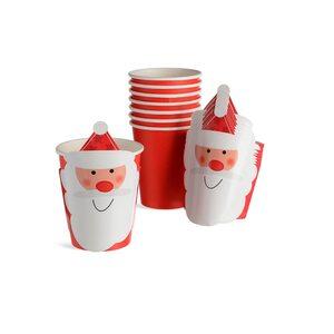 Pappbecher Santa, 8 Stück