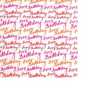Geschenkpapier Birthday