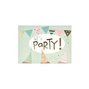 Postkarte Let's party