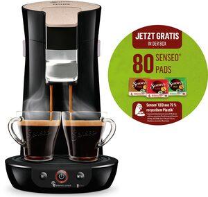 Senseo Kaffeepadmaschine Viva Café Eco HD6562/32, besonderer Kaffeegenuss mit Liebe zur Umwelt, inkl. 80 Senseo Kaffeepads