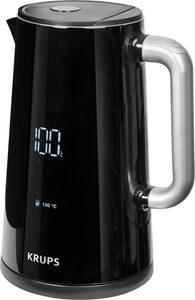 Krups Wasserkocher BW8018, 1,7 l, 1800 W, mit Digitalanzeige; 5 Temperaturstufen; One-Touch-Bedienung; 360°-Sockel; Automatische Abschaltung
