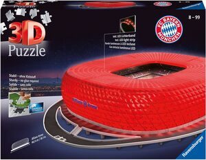 Ravensburger 3D-Puzzle »Allianz Arena Night Edition«, 216 Puzzleteile, Made in Europe