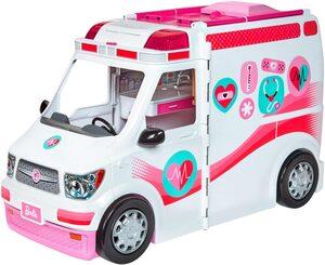 Mattel® Puppen Fahrzeug »Barbie Krankenwagen 2-in-1 Spielset«, mit Licht & Geräuschen