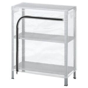 HYLLIS Regal mit Überzug, transparent