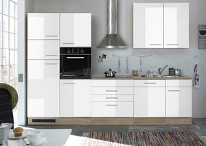 Küchenleerblock in Weiß/EICHE ´LAUREL 310CM EICHE/WEISS