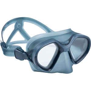 Tauchmaske Freediving FRD 500 Zweiglas reduziertes Volumen dunkelgrau