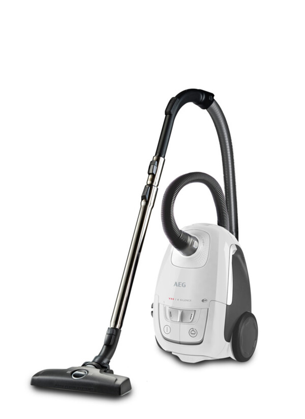 AEG VX8-2-6IW Ultra Silence Ice White Bodenstaubsauger (Aktionsradius 12 m, 600 Watt, leise, ergonomisch, Hygiene-Filter, waschbar, Dust-Magnet-Silent-High-Bodendüse)