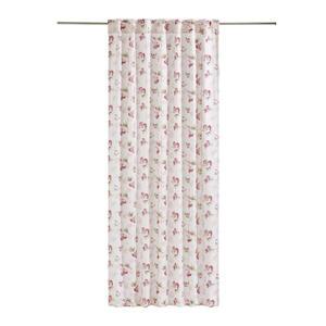 Landscape Kombivorhang blickdicht 135/245 cm , Rose , Rosa, Weiß , Textil , Floral , 135x245 cm , Jacquard , für Stange und Schiene geeignet , 0076960105