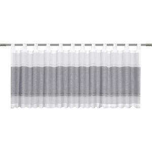 Esposa KURZGARDINE 50/140 cm , Palmera , Schwarz , Textil , Streifen , 50x140 cm , Webstoff , 004118004704