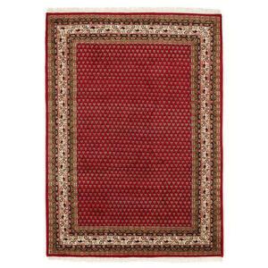 Esposa Orientteppich 70/140 cm creme, rot , Sakki Mir , Textil , Bordüre , 70x140 cm , für Fußbodenheizung geeignet, in verschiedenen Größen erhältlich , 007946085553