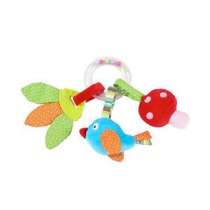 My Baby Lou Rassel springtime , Ringrassel - Springtime , Multicolor , Kunststoff, Textil , 18 cm , Geräuscheffekte, schadstofffrei, farbecht,Geräuscheffekte, schadstofffrei, farbecht,Geräuscheffe