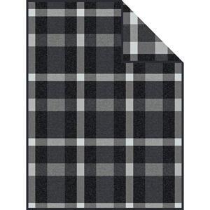 Novel Wohndecke 150/200 cm grau , Check , Textil , Karo , 150x200 cm , Webstoff , Einfassband , 003252012401