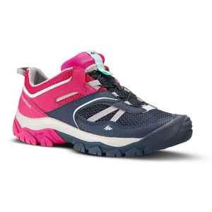 Wanderschuhe Crossrock niedrig mit Schnürung Kinder Mädchen Gr. 35–38 blau/pink