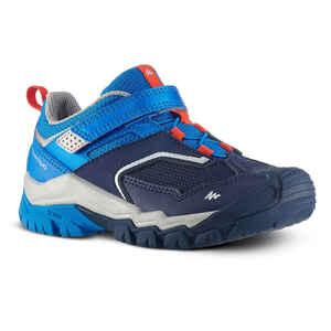 Wanderschuhe Crossrock niedrig Klettverschluss Kinder Jungen Größe 24–34 blau