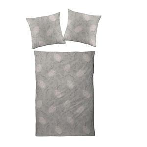Estella Bettwäsche interlock-jersey grau, hellbraun , 6028004-800 (Atelier) , Textil , Ornament , 27x38x4 cm , Interlock-Jersey , bügelfrei, pflegeleicht, hautfreundlich, schadstoffgeprüft , 00414