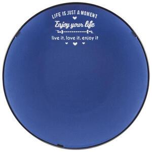 Landscape Speiseteller keramik steinzeug , Country , Blau, Schwarz, Weiß , Schriftzug , glänzend, bedruckt , 007136032003