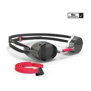 Schwedenbrille 900 weiß/rot verspiegelte Gläser