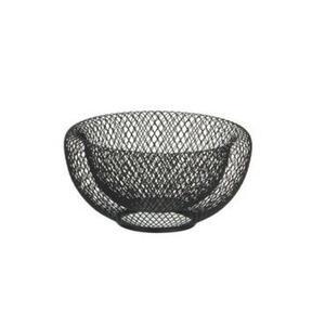 Ambia Home Obstschale metall , Modern Kitchen , Schwarz , 9.5 cm , pulverbeschichtet , 006641013501
